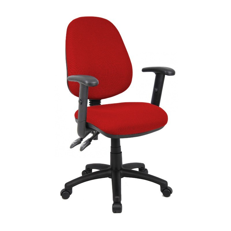 Vantage 102 2 lever PCB operators chair with adjustable arms