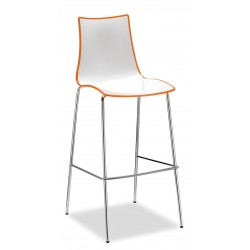 Gecko shell dining stool with chrome legs