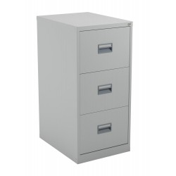 A Durable 3 Drawer Steel Filing Cabinet, Able To Hold Either A4 Suspension  Or Foolscap Hanging Files