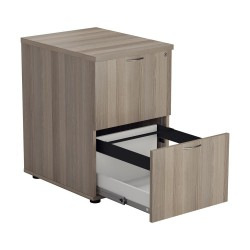 2 Drawer Filing Cabinet - Beech